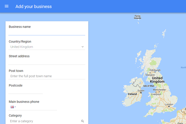 Starting your Google My Business listing. Perfect Layout in Romford can set this up for your business.