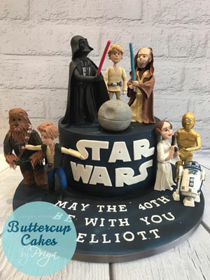 Buttercup Cakes by Priya Star Wars Birthday Cake