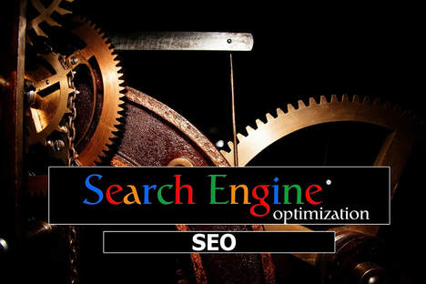 the internal working of an engine and the words across the bottom reads search engine optimisation, SEO